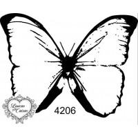 Carimbo borboleta m ref 4206  tam 7 x 5.5 cm