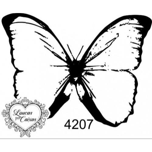 Carimbo borboleta p ref 4207  tam 5.6 x 4.2 cm