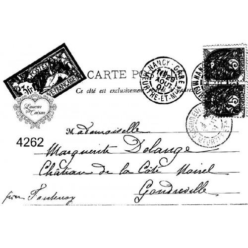 Carimbo envelope post card ref 4262 - tam 10 x 7 cm