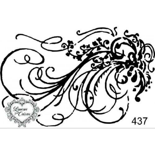 Carimbo arabesco ref 437 - 8.2 x 5.4 cm
