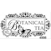 Carimbo botanical tea ref 4998 tam 8.1 x 4.2 cm