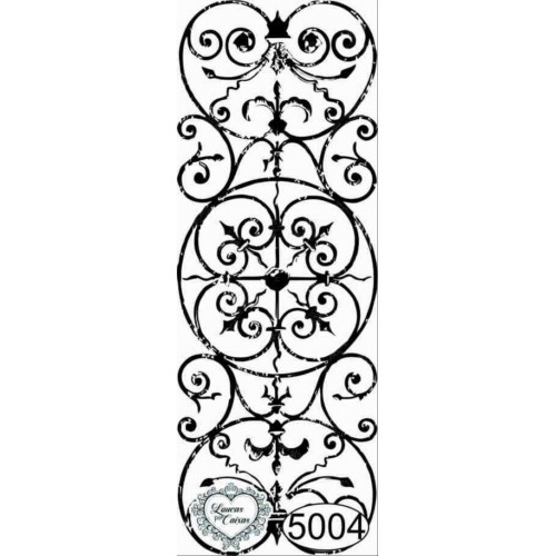 Carimbo Fundo Grade Ref. 5004 - 8x3 cm