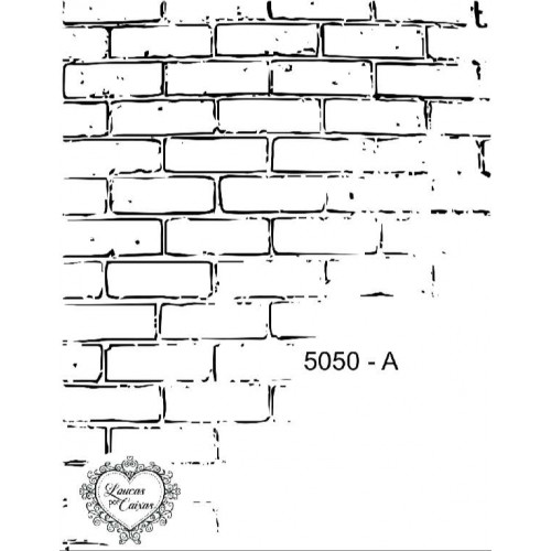 Carimbo tijolos ref 5050 8,309 x 10,683 cm