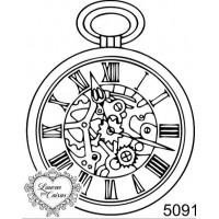 Carimbo relógio steampunk ref 5091 - tam 5.2 x 6.6 cm