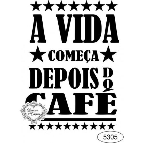 Carimbo texto café ref 5305