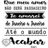 Carimbo texto meu amor não será passagei..