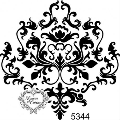 Carimbo arabesco ref 5344 tam 7 x 7 cm