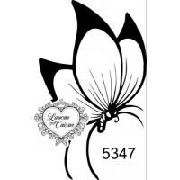 Carimbo borboleta ref 5347 tam 3.5 x 8  ..