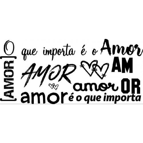 Carimbo texto amor ref 5353 - 10 x 4.6 cm