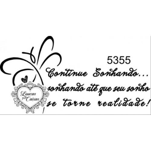 Carimbo texto ref 5355 - 7 x 3.7 cm