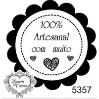 "Carimbo ""100% artesanal"" ref 5357"