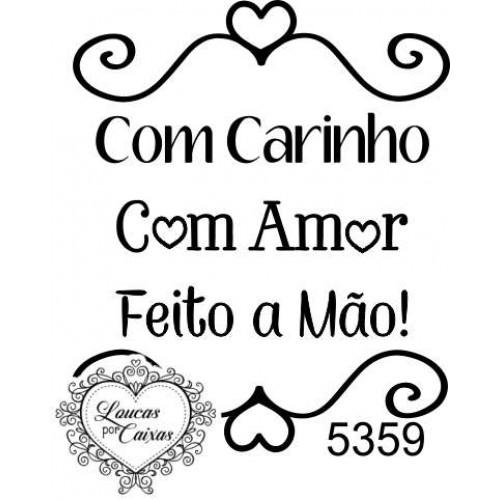"""Carimbo """"feito a mão"""" ref 5359"""