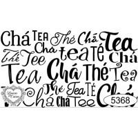 Carimbo texto chá ref 5368 - tamanho 7,9 x 4,5 cm