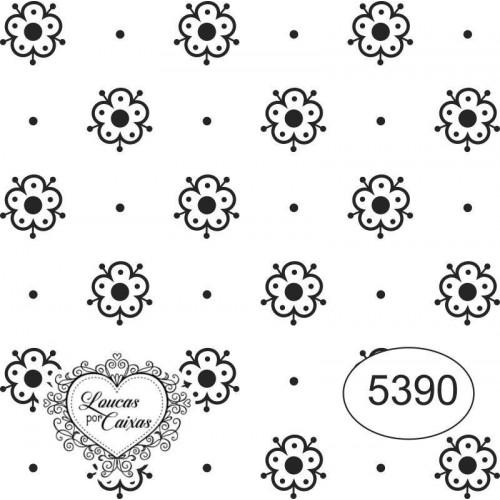 Carimbo ref 5390 estampa florzinhas tam 6 x 6 cm
