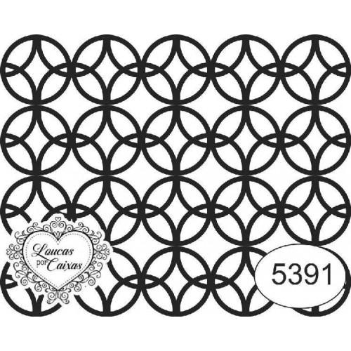 Carimbo ref 5391 estampa círculos tam 6 x 4.8 cm