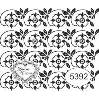 Carimbo ref 5392 estampa floral tam 6 x 5 cm