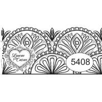 Carimbo ref 5408 barra rendada 6 x 3 cm - 6 x 3 cm
