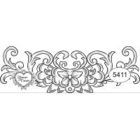 Carimbo ref 5411 arabesco - 10 x 3.5 cm