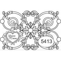 Carimbo ref 5413 fundo arabescos - 6 x 3..