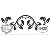 Carimbo ref 5420 arabesco - 5.1 x 1.7 cm..