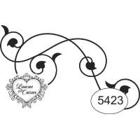 Carimbo ref 5423 arabesco - 6 x 3.6 cm