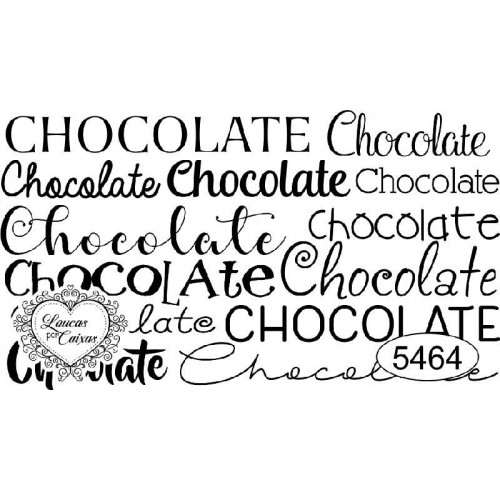 Carimbo Texto Chocolate Ref. 5464