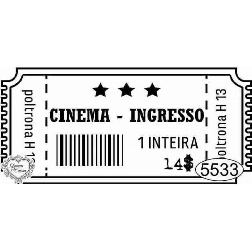 Carimbo Ingresso Cinema Ref. 5533 - 7 x 3 cm