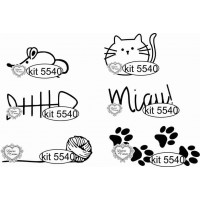 Kit Mini Carimbos - Miau! 1 - Ref. 5540 ..