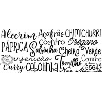 Carimbo Texto Temperos - Ref. 5564 - 8 x 3,5 cm