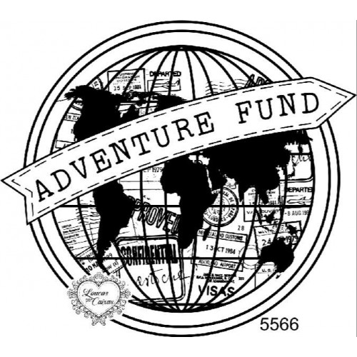 Carimbo Adventure Fund - Ref. 5566 - 10 x 9 cm