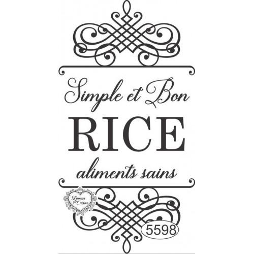 Carimbo Simple et Bon Rice Ref. 5598 - 9 x 5 cm