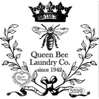 Carimbo Queen Bee Laundry Co. Ref. 5599 - 8,5 x 8,5 cm