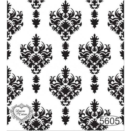 Carimbo Fundo Arabescos Ref. 5605 - 6 x 7 cm