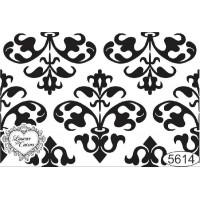 Carimbo Fundo Arabesco Ref. 5614 - 8 x 5,5 cm