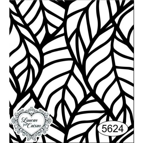 Carimbo Fundo Folhas - 6 x 7 - Ref. 5624