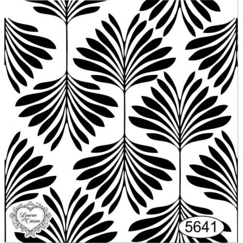 Carimbo Fundo Folhas - Ref 5641 - 6,5 x 7 cm