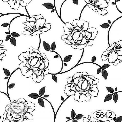 Carimbo Fundo Floral - Ref 5642 - 7 x 7 cm