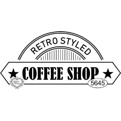 Carimbo Coffee Shop - Ref 5645 - 8 x 4 cm