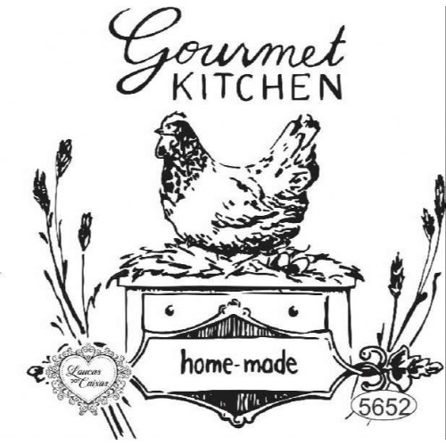 Carimbo Gourmet Kitchen - 9x9cm - Ref. 5652