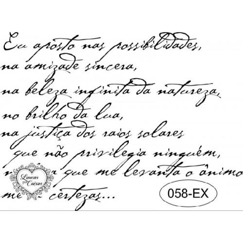 Carimbo texto ref 58-ex - tam 9.8 x 7.2