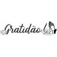Carimbo Gratidão Ref. 5621 - 6 x 1,5 cm