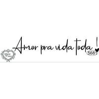 Carimbo Amor pra Vida Toda - 10x2cm - Re..