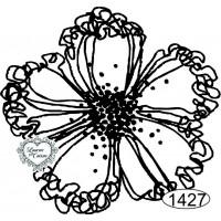 Carimbo de Flor - 6x6 cm - Ref. 1427..