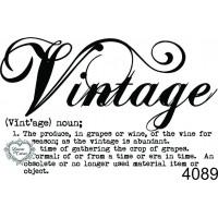 Carimbo Vintage significado - 6,5x4cm - ..