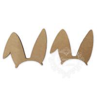 Orelhinhas de Coelho - 2 unid - em MDF 3mm - p, m ou g