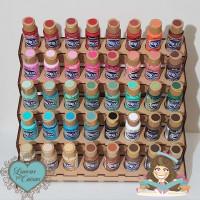 Expositor de tintas - 40 tintas decoart ou nature colors (acrilex)- desmontado