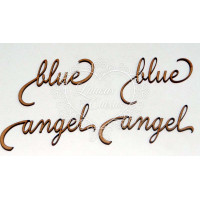 Angel blue - mdf - 4 un