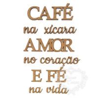 Café na xícara Amor no coração E Fé na v..