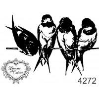 Carimbo pássaros p ref 4272  - 5,5 x 3,7..