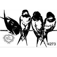 Carimbo pássaros g ref 4273 - 8,6  x 5,7..